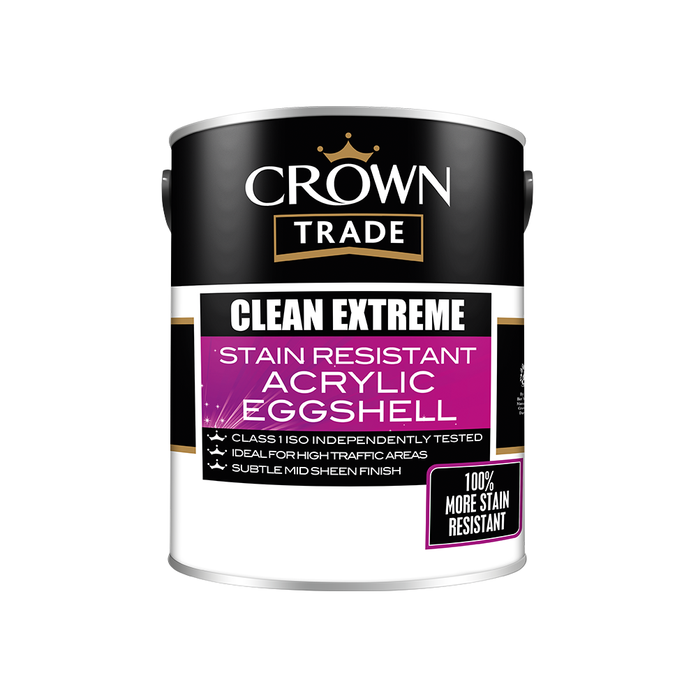 Crown Trade Clean Extreme Durable Acrylic Eggshell