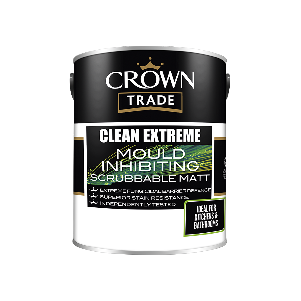 Crown Trade Clean Extreme Mould Inhibiting Scrubbable Matt