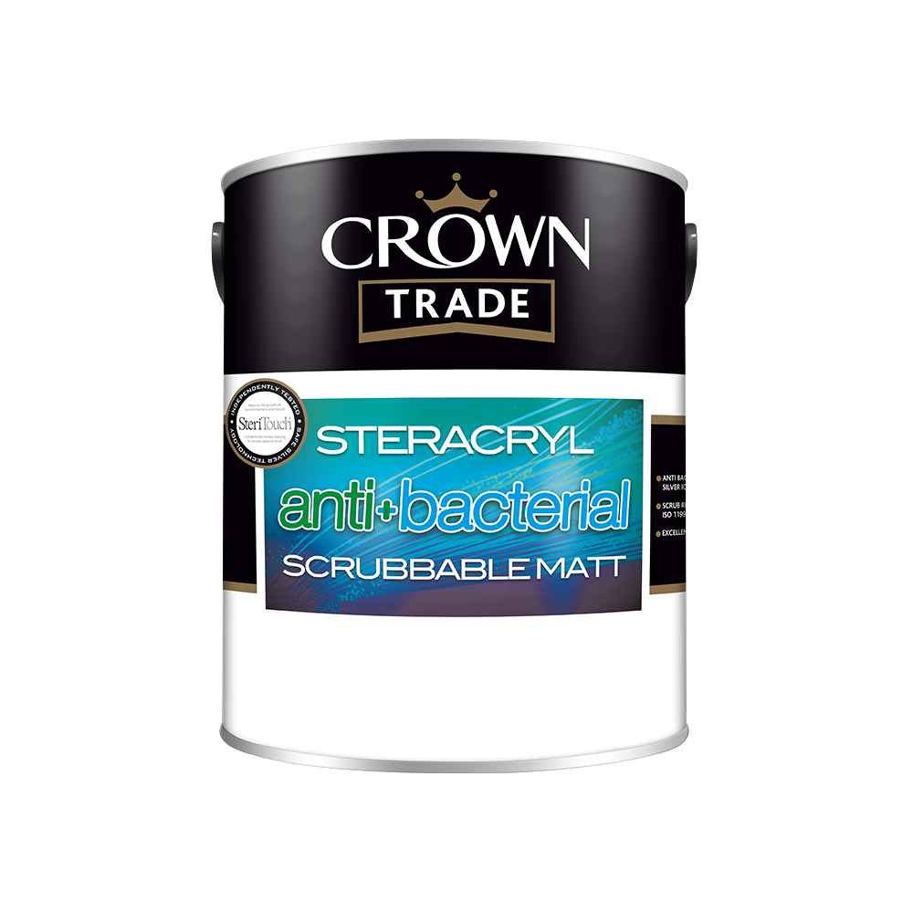 Crown Trade Steracryl Anti Bacterial Scrubbable Matt